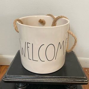 Rae Dunn Welcome Hanging Planter